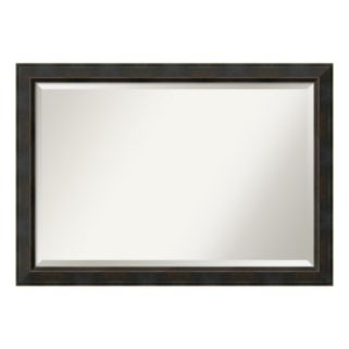 Signore Bronze-Tone Traditional Wood Wall Mirror