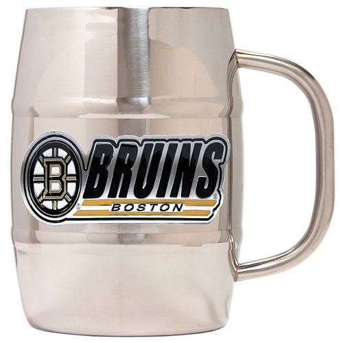 Boston Bruins Stainless Steel Barrel Mug