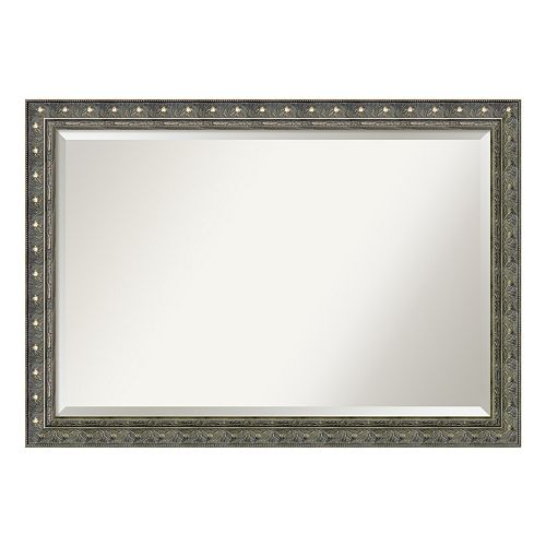 Barcelona Silver Finish Wood Wall Mirror
