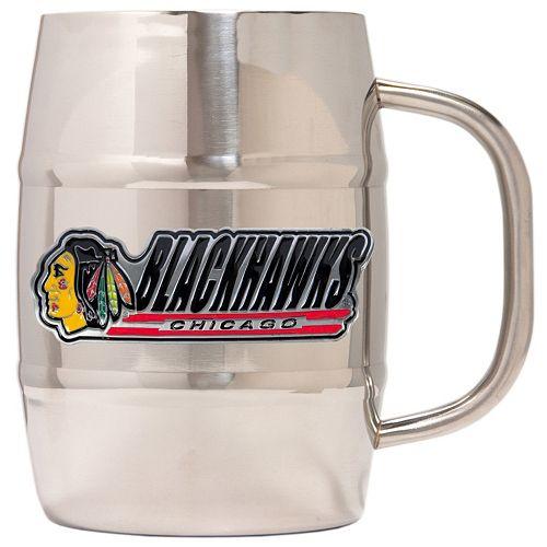 Chicago Blackhawks Stainless Steel Barrel Mug