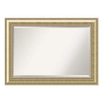 Astoria Champagne Finish Wood Wall Mirror