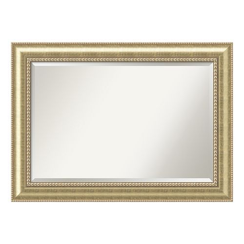Astoria Champagne Finish Wood Wall Mirror