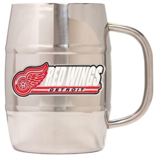 Detroit Red Wings Stainless Steel Barrel Mug