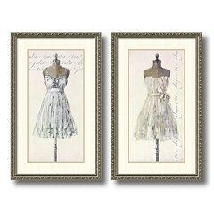 'Tres Jolie and Elegante' 2-piece Framed Wall Art Set