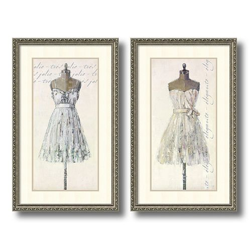 """Tres Jolie and Elegante"" 2-piece Framed Wall Art Set"