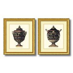 'Antonini Clementino Urn I & IV' 2 pc Framed Wall Art Set