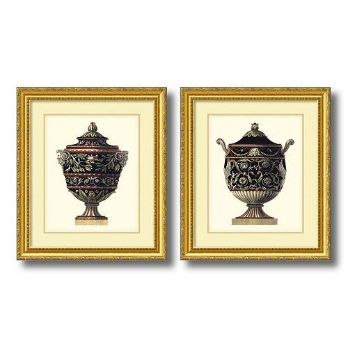 """Antonini Clementino Urn I & IV"" 2-piece Framed Wall Art Set"