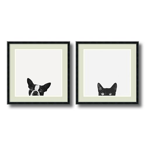 """Loyalty and Curiosity"" 2-piece Framed Wall Art Set"