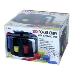 300 Poker Chip & Revolving Rack Set by John N. Hansen Co.