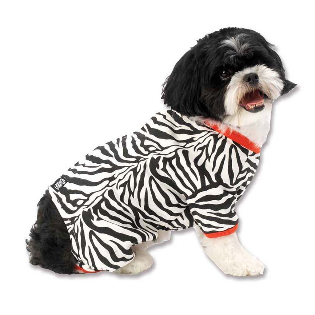 PetRageous Designs Zebra Comfy Knit Pet Pajamas