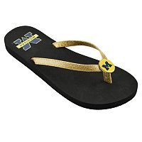 Women's Michigan Wolverines Flip Flops