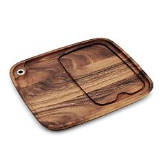 Ironwood Gourmet 11-in. Acacia Wood Steak Barbecue Plate