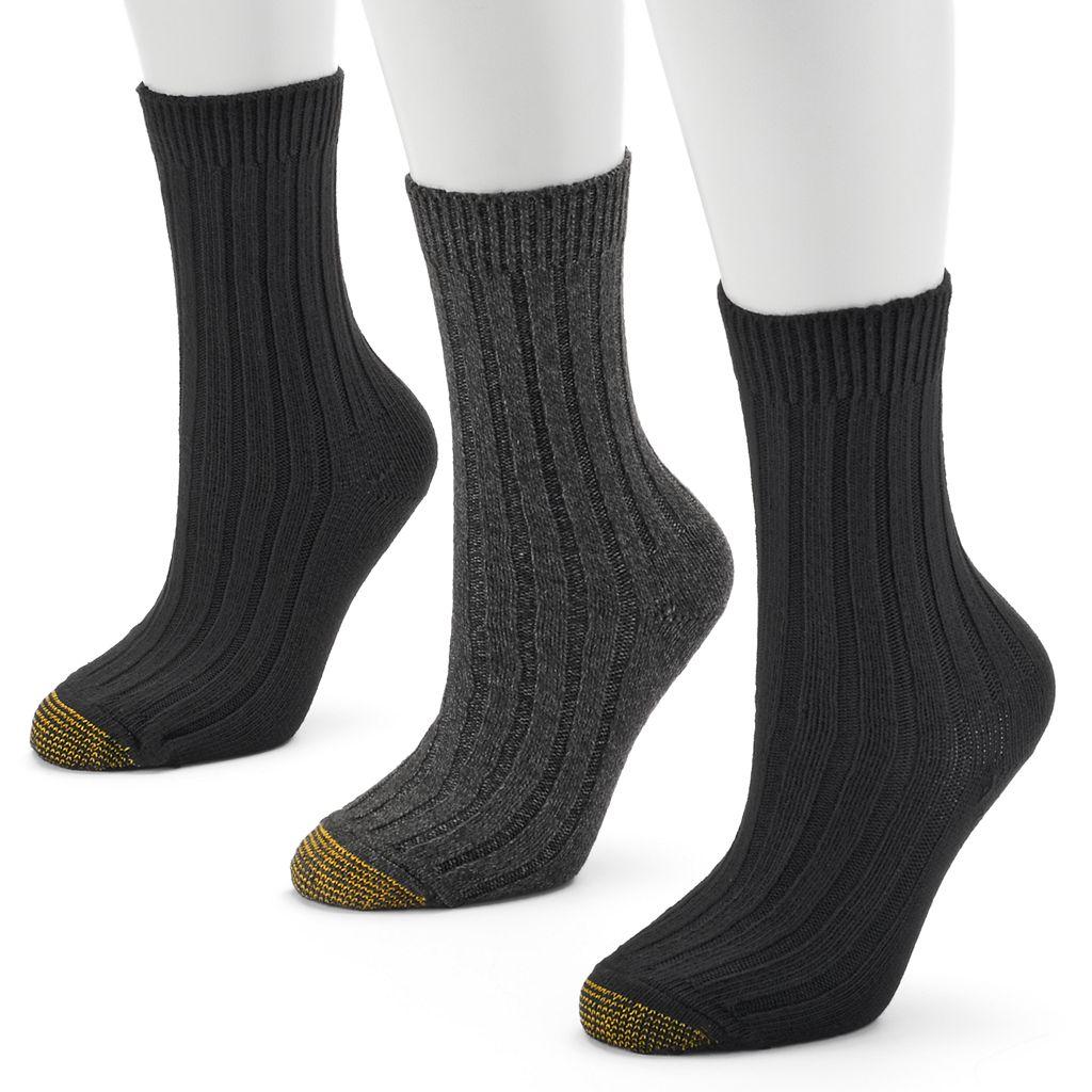 GOLDTOE 3-pk. Weekender Crew Socks - Women