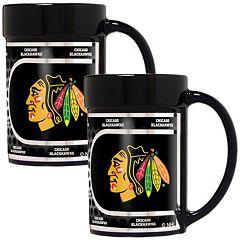 Chicago Blackhawks 2-Piece Ceramic Mug Set with Metallic Wrap