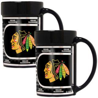 Chicago Blackhawks 2-Piece Ceramic Mug Set with Metallic Wrap