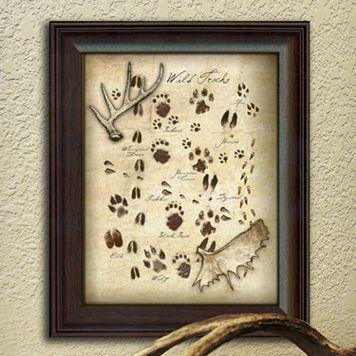 ''Animal Tracks'' Framed Wall Art