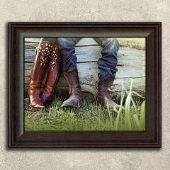 ''Boots Love'' Framed Wall Art