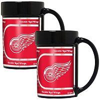 Detroit Red Wings 2-Piece Ceramic Mug Set with Metallic Wrap