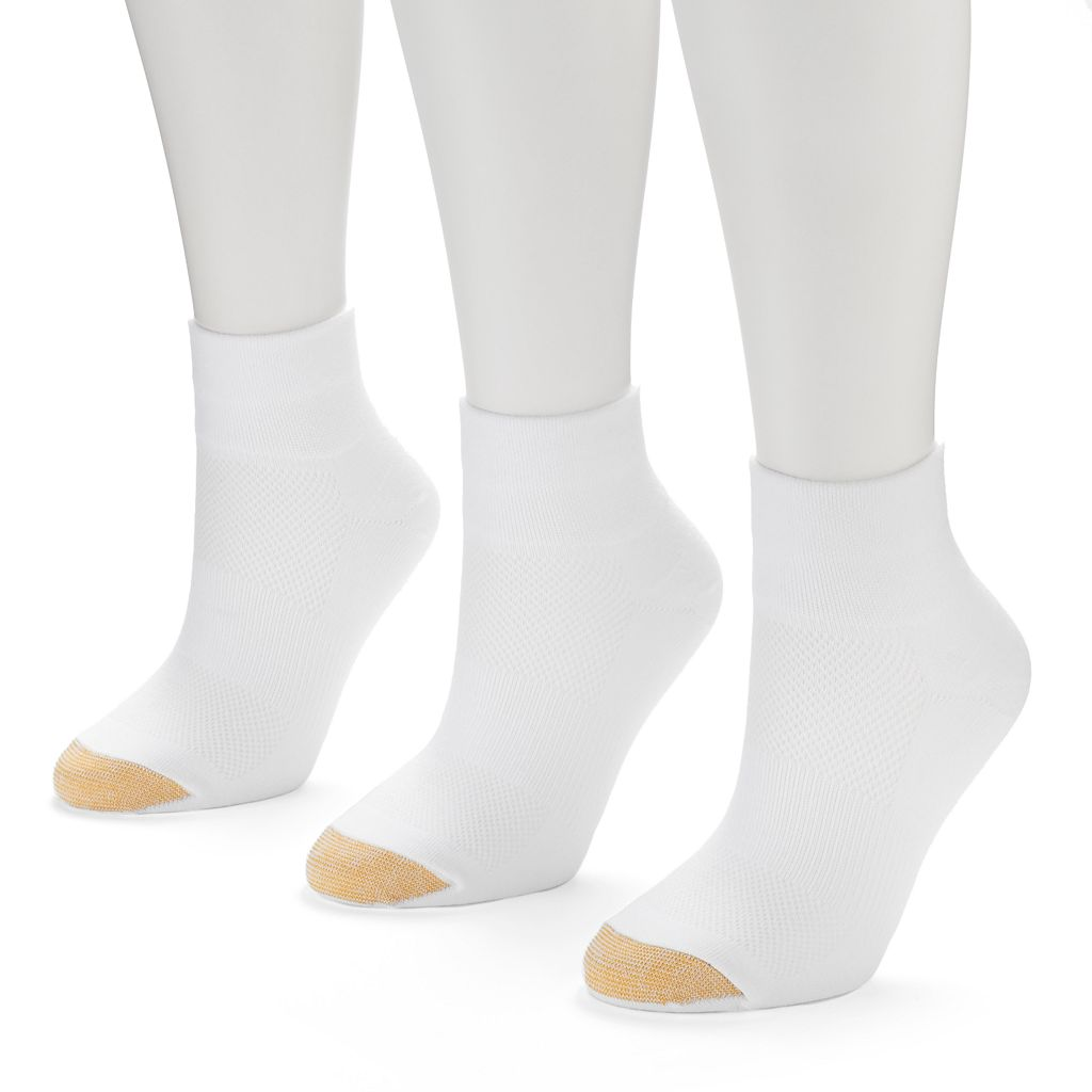 GOLDTOE CoolMax 3-pk. Quarter-Crew Socks - Women