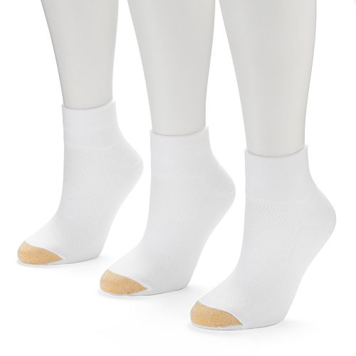 GOLDTOE CoolMax 3-pk. Quarter-Crew Socks - Women