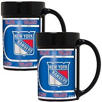 New York Rangers 2-Piece Ceramic Mug Set with Metallic Wrap
