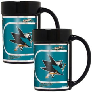 San Jose Sharks 2-Piece Ceramic Mug Set with Metallic Wrap
