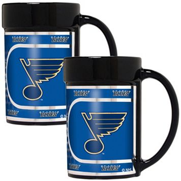 St. Louis Blues 2-Piece Ceramic Mug Set with Metallic Wrap