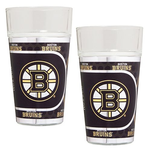 Boston Bruins 2-Piece Pint Glass Set