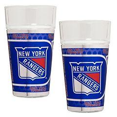 New York Rangers 2-Piece Pint Glass Set