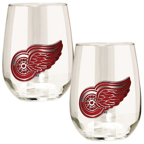 Detroit Red Wings Stemless Wine Glass Set