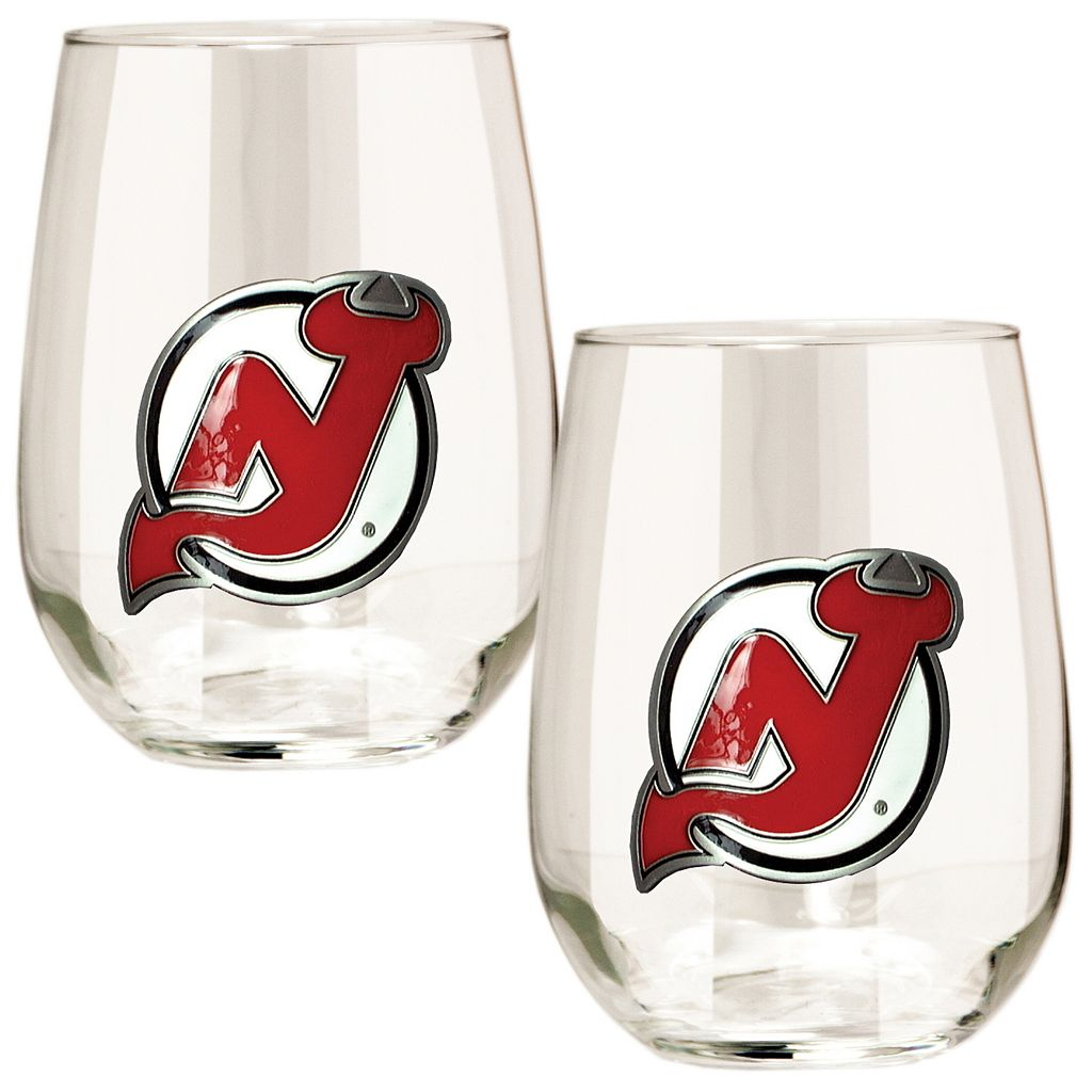 New Jersey Devils Stemless Wine Glass Set