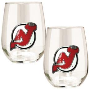 New Jersey Devils Stemless Wine Glass Set