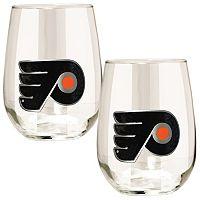 Philadelphia Flyers Stemless Wine Glass Set