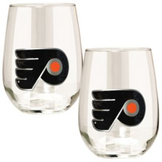 Philadelphia Flyers Stemless Wine Glass Set