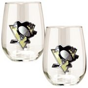 Pittsburgh Penguins Stemless Wine Glass Set