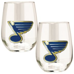 St. Louis Blues Stemless Wine Glass Set
