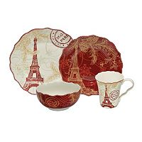 222 Fifth Joyeux Noel 16 pc Dinnerware Set