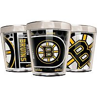 Boston Bruins 3 pc Stainless Steel & Acrylic Shot Glass Set