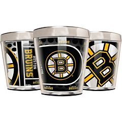 Boston Bruins 3-Piece Stainless Steel & Acrylic Shot Glass Set