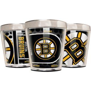 Boston Bruins 3-Piece Stainless Steel & Acrylic Shot Glass Set