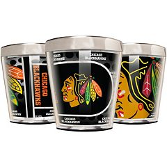 Chicago Blackhawks 3-Piece Stainless Steel & Acrylic Shot Glass Set