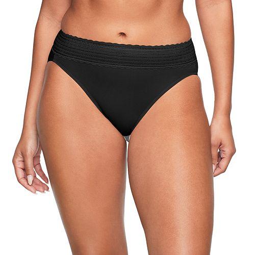 Warner's No Pinching. No Problems. Lace-Trim Cotton Hi-Cut Panty RT2091P
