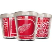 Detroit Red Wings 3-Piece Stainless Steel & Acrylic Shot Glass Set