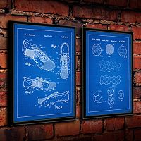 ''Soccer'' 2 pc Framed Wall Art Set