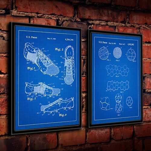 ''Soccer'' 2-piece Framed Wall Art Set