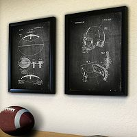''Football'' 2-piece Framed Wall Art Set