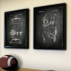 ''Football'' 2 pc Framed Wall Art Set