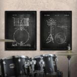 ''Drums'' 2-piece Wall Art Set