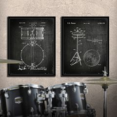 ''Drums'' 2 pc Wall Art Set