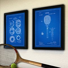 ''Tennis'' 2 pc Framed Wall Art
